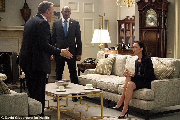 Familiar faces: His ally, congresswoman Jackie Sharp (Molly Parker), will be back for more...