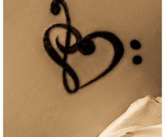 If I were to get a tattoo... This would be it. Why? I have such a great love towards music. I played bass for a number of years and I have danced, and dance is an expression of music coming to life... if that makes any sense. Anyway... I love it and if I had the guts to get this I so totally would.: