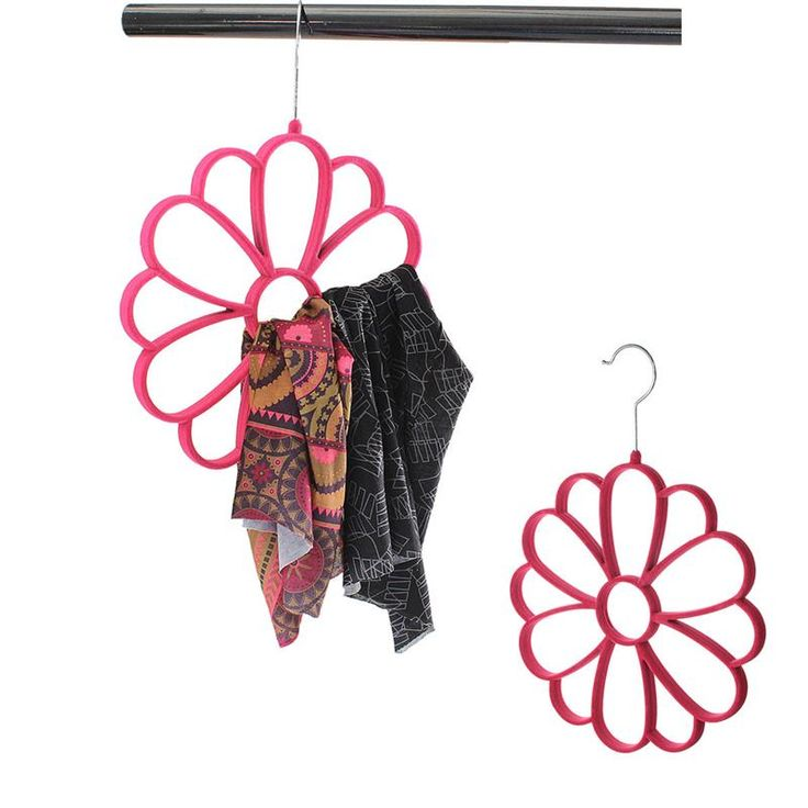 Подсолнечника мягкие шкаф шкаф ремни шеи галстук держатель красный круг цветочные пластмассовый шарфы вешалка организатор защитить шарф купить на AliExpress
