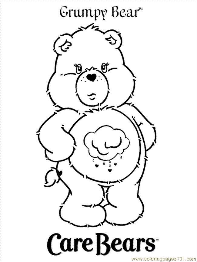 Free Printable Coloring Pages Teddy Bear : 46 best care bear grumpy 4 images on pinterest