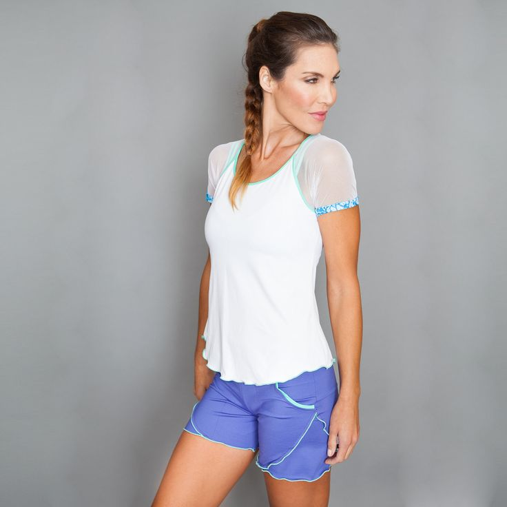 Short by Denise Cronwall, Denise Cronwall Activewear Riviera Collection, #activewear, #tennis, #fitness, #workout, #apparel, #style, #fashion, #unique, #boutique, #training, #pants, #bra, #top, #designer, #skort, #skirt, #geocollection, #athleisure, #short