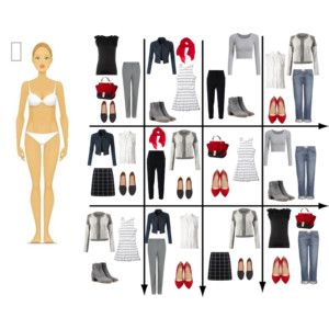15 Item Capsule Wardrobe for Rectangle Shape