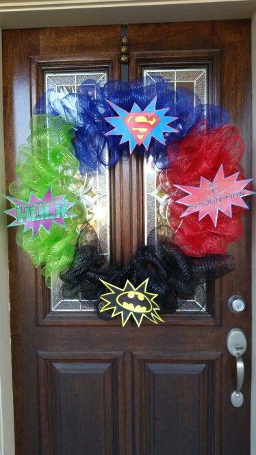 Superhero wreath