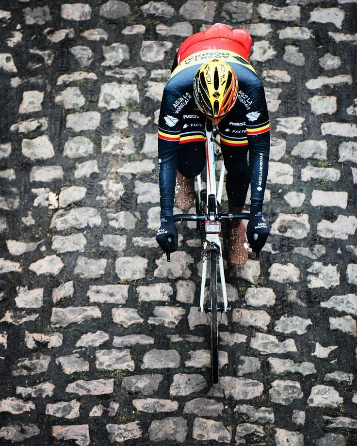 Oliver Naesen and the stones of the Arenberg Forest.