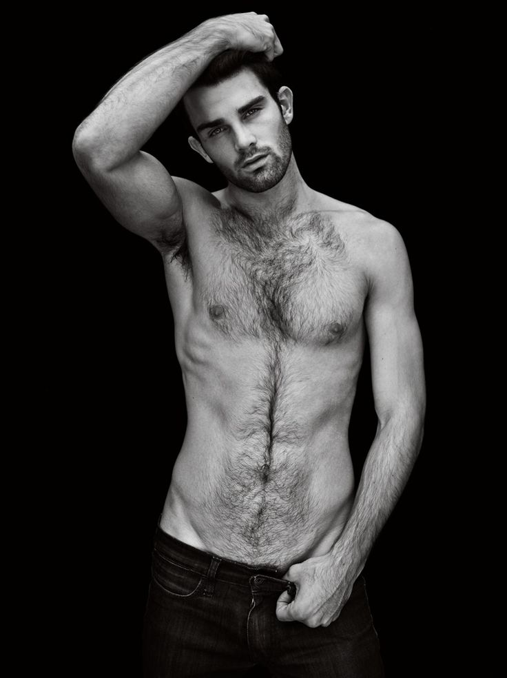 Man hairy chest male models
