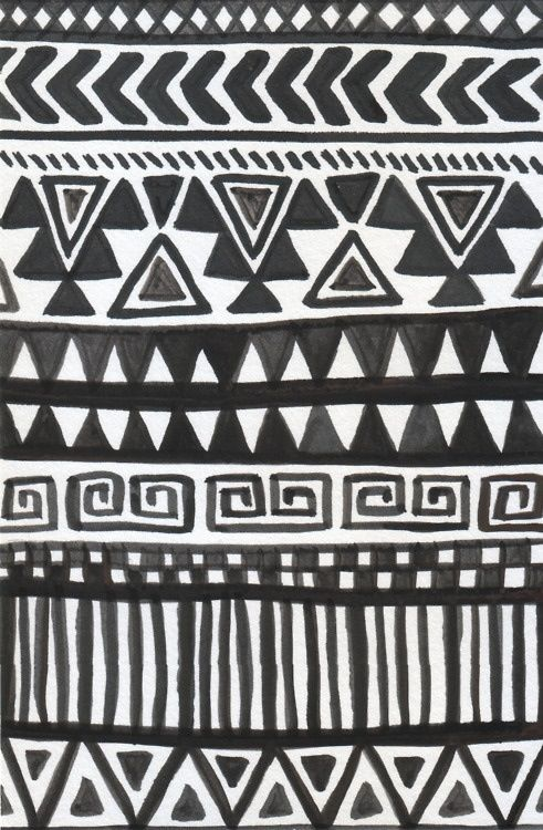 Iphone Wallpaper Black And White Tribal Print