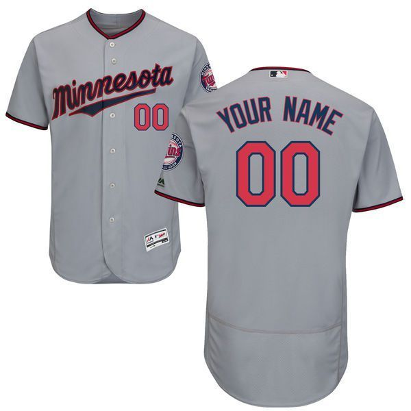 cheap for discount 425a4 33054 Men Minnesota Twins Majestic Road Gray Flex Base Authentic ...