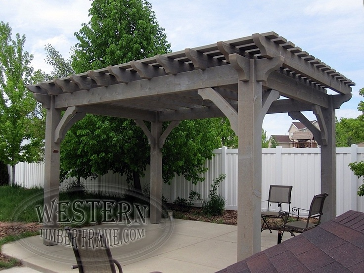 Free Standing Pergola With Canyon Gray Stain And Roosevelt