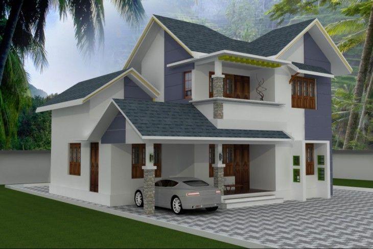 4bhk Stylish Kerala Style Low Cost House Small House Design House Front Design Kerala House Design