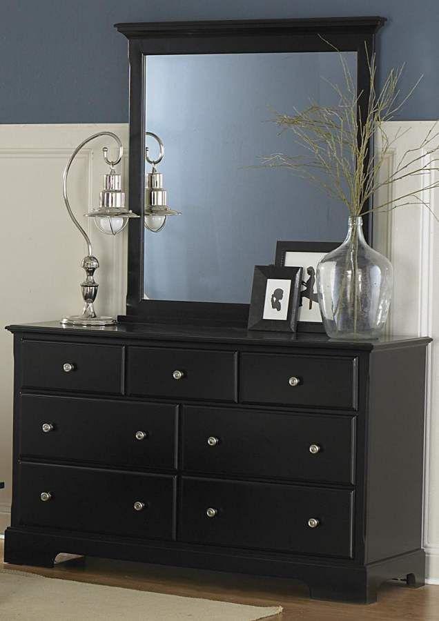 Morelle Black Dresser & Mirror