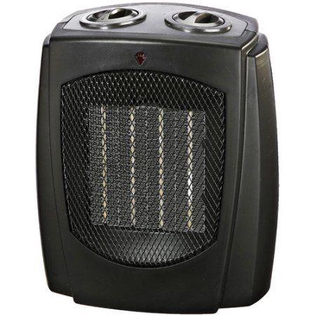 Pro Fusion Heat FH107A 750/1500 Watt Black Ceramic Portable Heater, Multicolor