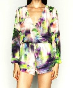 Talulah skip a beat playsuit in 100% printed silk $280 available at www.threadsandstyle.com.au