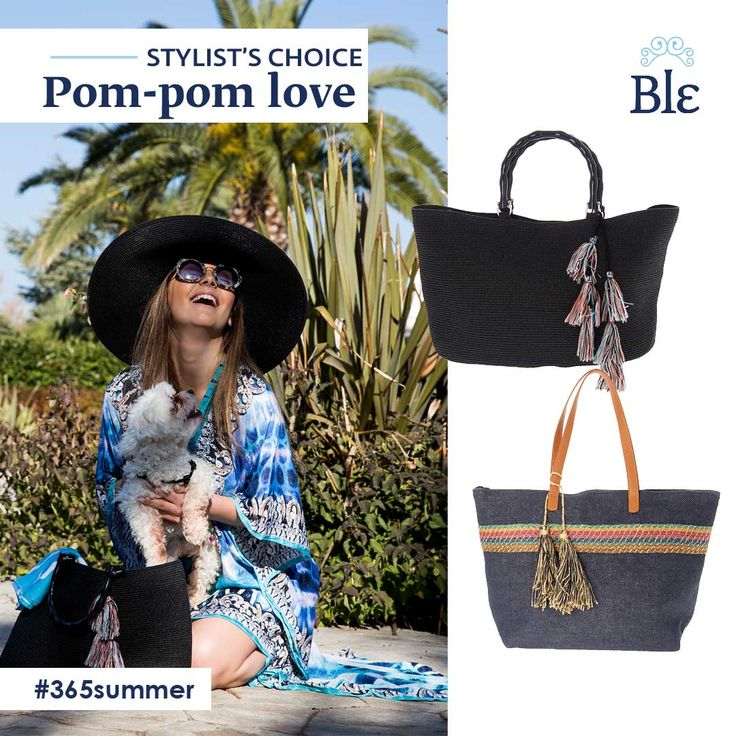 Relaxing beach day or romantic drinks night? Whatever your choice Ble's collection of bags will proudly accompany you. Simple straw designs in blue hues and chic pompons add up to create an all day long look! Discover the collection here http://www.ble-shop.com/bags.html