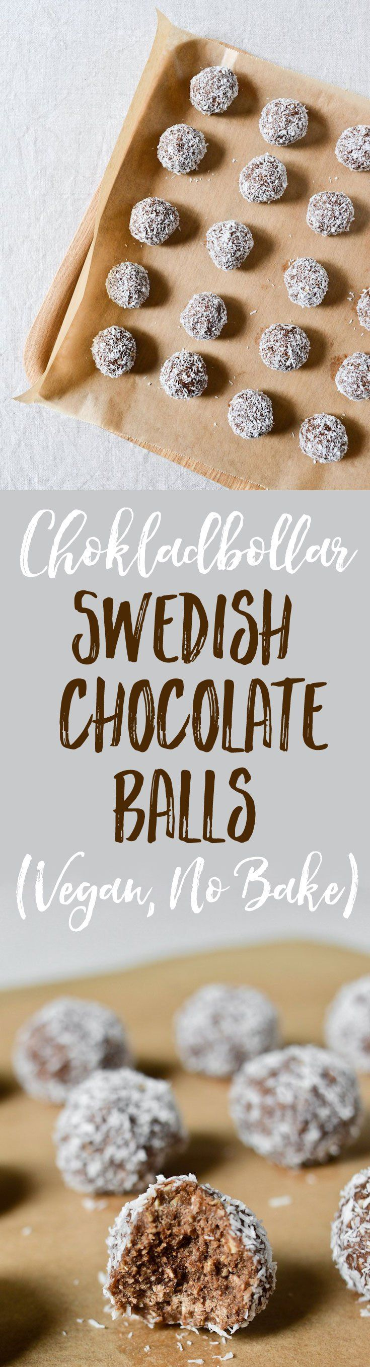 A super easy, no-cook, vegan recipe for the Swedish chocolate balls (Chockladbollar) Stockholm goes crazy for. Easy to make with kids. Video included!