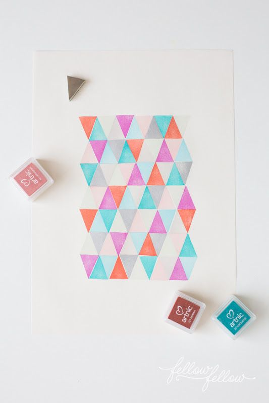 DIY geometric art with simple stamps | How About Orange