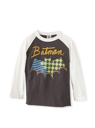 44% OFF Junk Food Kid's Batman Raglan Tee (Bw/Su)