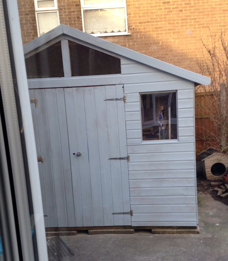 White Painted Garden Sheds