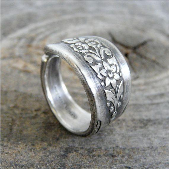 Spoon Ring, Antique Silverware Jewelry