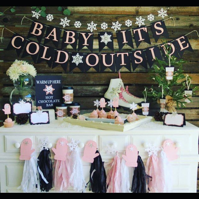 Our New Winter Baby Shower Theme Is Out! Baby Itu0027s Cold Outside! Colors Can