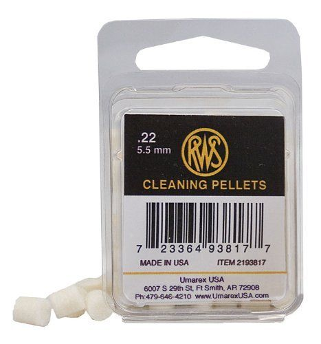 RWS .22 Quick Cleaning Pellets, 80ct by Umarex. $8.43. Manufactured from heavy felt.  These pellets remove dirt and lead residue from the barrel.  They do not take the place of a thorough cleaning with a rod but with regular use they will help maintain performance.
