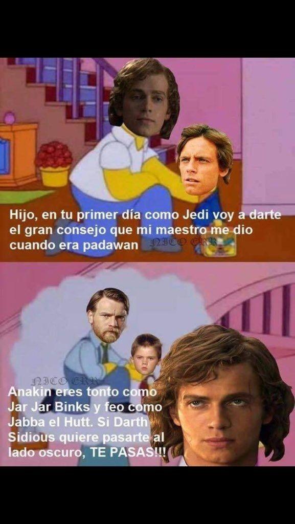 Malditos genios. | 21 Memes que sólo le darán risa a los fans mexicanos de Star Wars