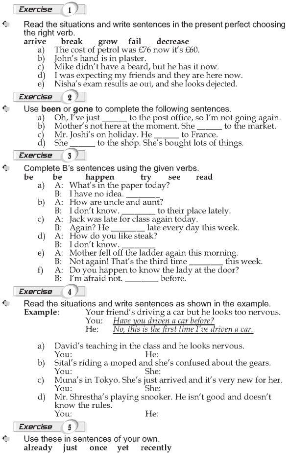 Grade 9 Grammar Lesson 8 Present Perfect Grammar Lessons English Language Teaching Grammar