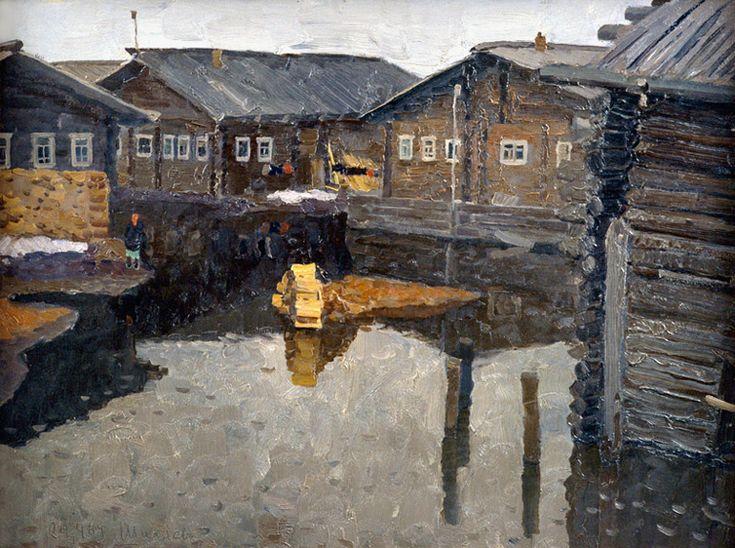 В. Ф. Стожаров. Шиляево. Большая вода. 1969. К.М.
