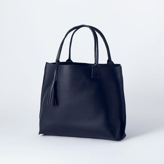 Bubo Handmade Leather Tote Bag | west elm