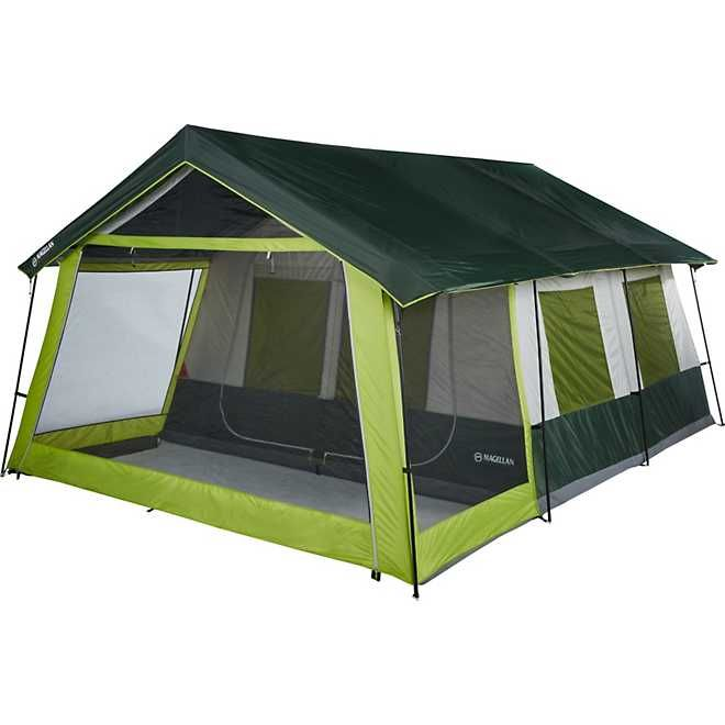 Magellan Outdoors Lakewood Lodge 10 Person Cabin Tent Academy In 2020 Tunnel Tent Cool Tents Cabin Tent