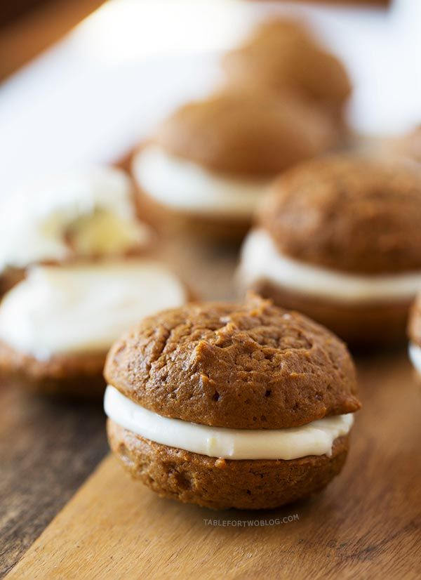 Mini Gingerbread Whoopie Pies   via Table for Two