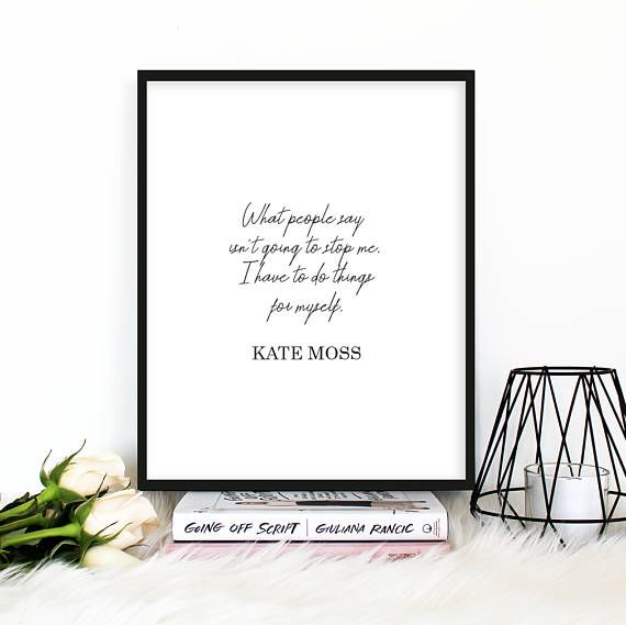 Fashion Wall Art What People Say...Printable Quote Black And