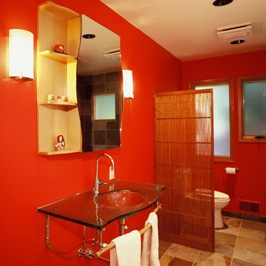 Asian Bathroom Accessory Storage Design, Pictures, Remodel, Decor and Ideas