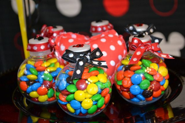 M party favors: First Birthday Parties, Catch My Party, Mickey Mouse Birthday, Candy Favors, 1St Birthday, Birthday Parties Ideas, Parties Favors, 3Rd Birthday Parties, Birthday Ideas