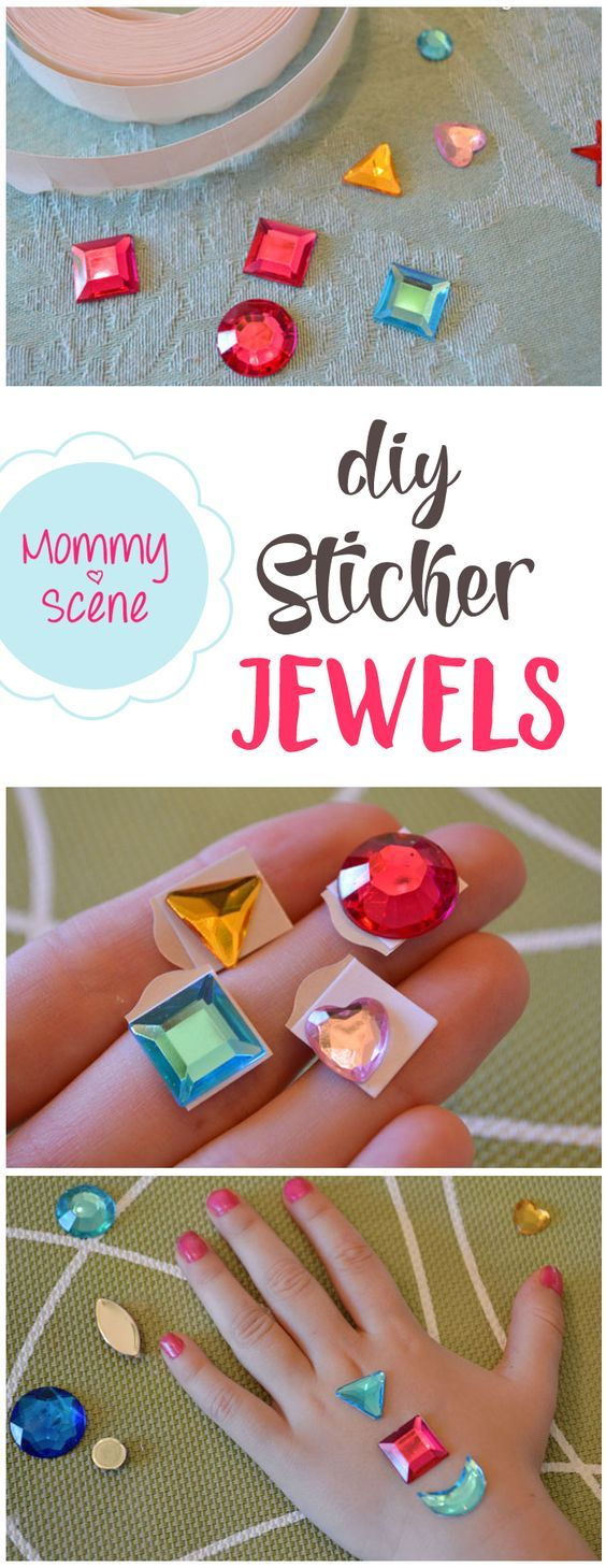 Make your own princess jewel stickers - Mommy Scene