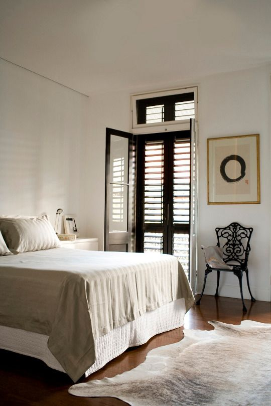 like these doors - can I emulate this look with shutters on my bedroom windows?