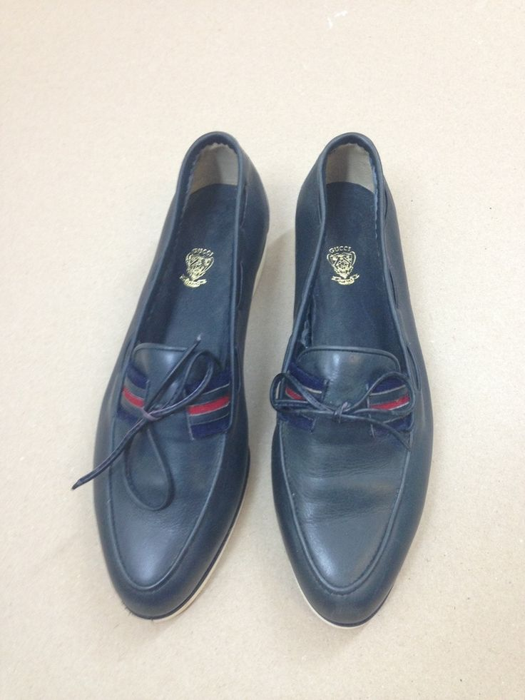 VINTAGE 80S GUCCI boating/deck shoes with lace tassels mod MADE IN ITALY UK3