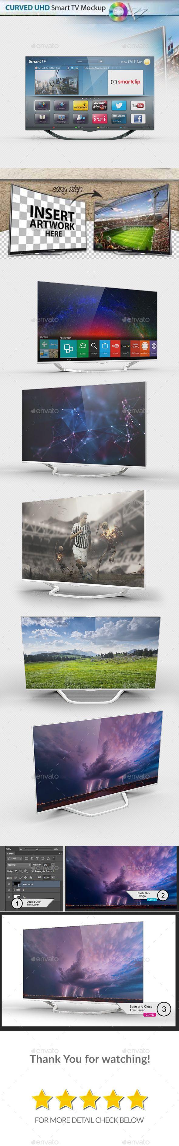 6 Smart Screen Mockup - UHD TV