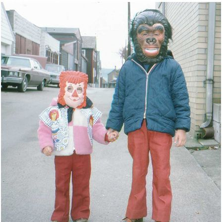 OK, maybe not exactly these costumes, but very close to what we wore for Halloween in the 70s!!