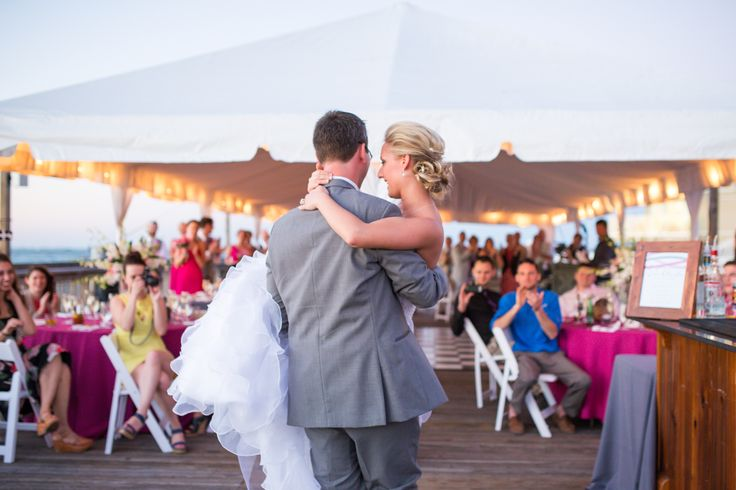 Christy & Max on Borrowed & Blue.  Photo Credit: Filda Konec Photography wedding at the @fztwedding  reception at the @oceankeyresort  wedding planner @soireekeywest  wedding cake Key West Cakes hair and make-up Infinity Hair Salon music Soundwave Key West