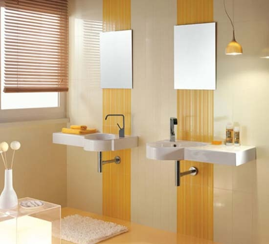 Sink with space for soap, great for toilet room, wash hands before opening toilet room door!