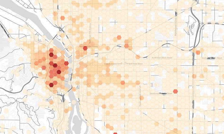 Portland bike thefts, 2007 - 2014