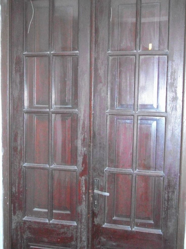 Puerta interior antigua doble hoja con postigones 4500 for Puertas dobles antiguas