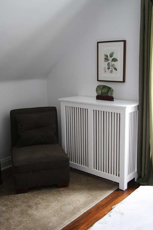 Fichman Furniture's wooden radiator covers add period appeal to a room.