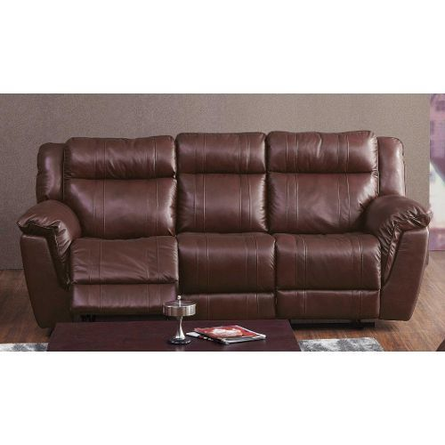 Sofa Sale  K Motion Red Leather Match Power Reclining Sofa
