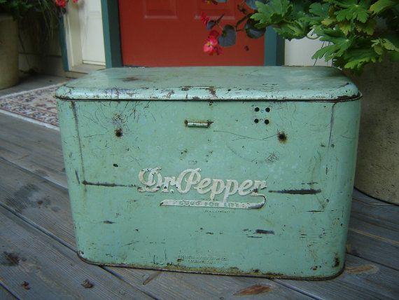 Dr. Pepper Cooler Retro 1940s Cool Green
