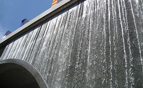 Inauguration du mur d'eau le plus haut d'Europe