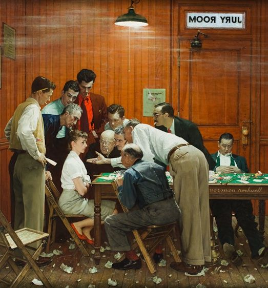Norman Rockwell's Timeless Paintings. My Modern Metropolis. The Jury