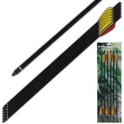 6 - Aluminum Crossbow Arrows MKAL20-6BK
