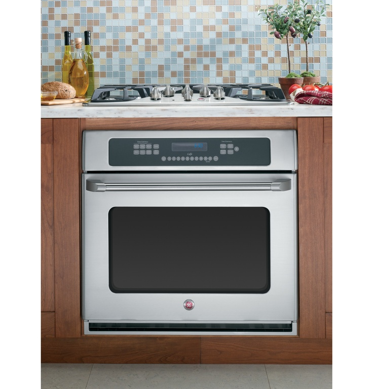 "Wall Oven Cabinets: GE Cafe™ 30"" Built-In Single Convection Wall"