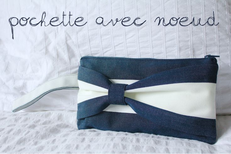 DIY - Pochette en tissu avec noeud